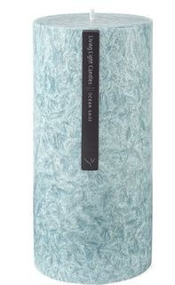 Living Light - Pillar Candle 70mm - Aqua - Ocean Sage