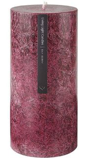 Living Light - Pillar Candle 70mm - Dark Red - Bay Berry