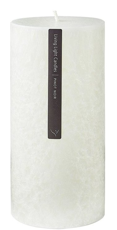 Living Light - Pillar Candle 70mm - White - Pinot Noir