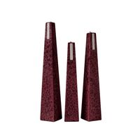 Living Light - Icicle Candle - Dark Red - Red Currant